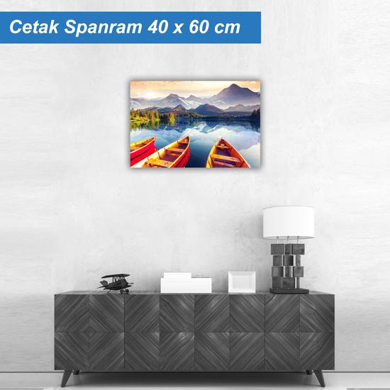 Cetak Spanram Danau Bahan Flexi Korea China (KorCin) Ukuran 40 x  ...