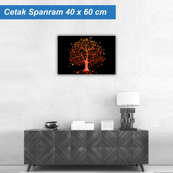 Cetak Spanram Pohon Orange Bahan Flexi Korea China (KorCin) Ukura ...