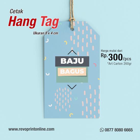 Cetak HangTag Art Carton Per A3 (Ukuran 8 x 4 cm)
