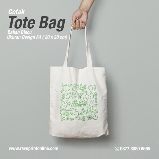 Tote Bag Custom Design A4 ( 20 x 26 cm )