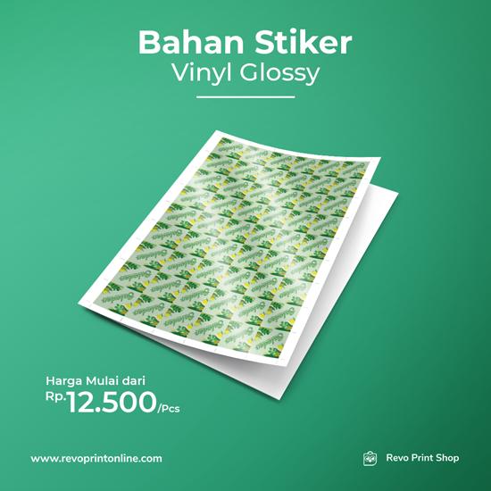Bahan Stiker Vinyl Glossy (Tanpa Cutting)