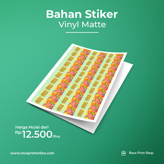 Bahan Stiker Vinyl Matte (Tanpa Cutting)