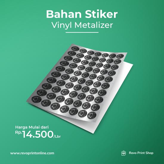 Bahan Stiker Vinyl Metalizer (Tanpa Cutting)