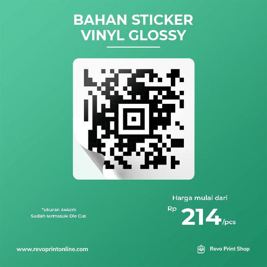 Stiker Hitam Putih Bahan Vinyl Glossy