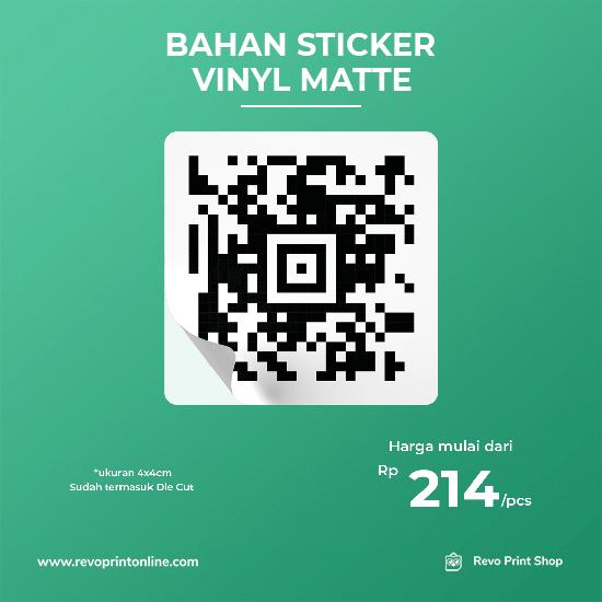 Stiker Hitam Putih Bahan Vinyl Mate