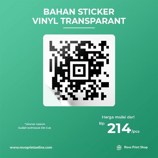 Stiker Hitam Putih Bahan Vinyl Transparant