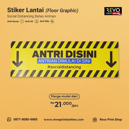Stiker Lantai Social Distancing Batas Antrian (60x20cm)
