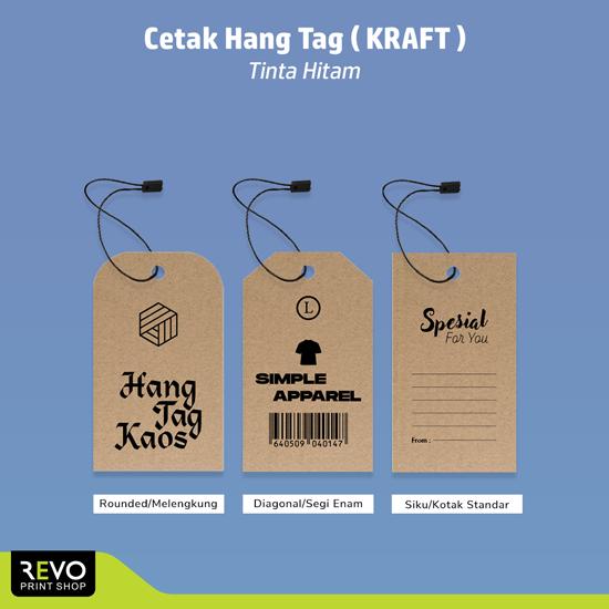 Cetak Hang Tag Custom (Kraft Cokelat)
