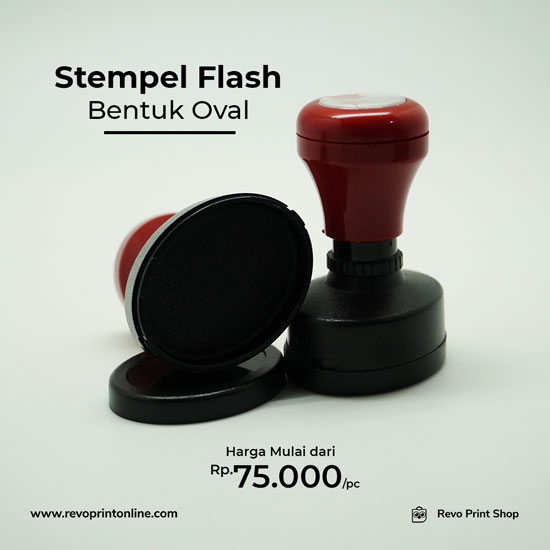 stempel Flash Oval
