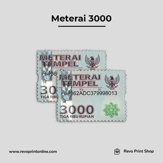 Meterai atau Materai 3000