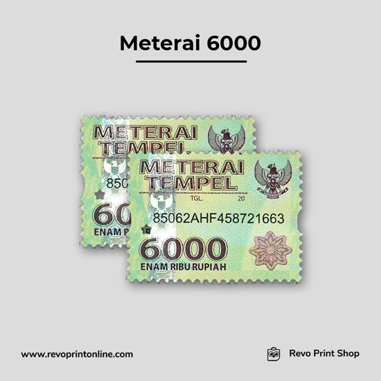 Meterai atau Materai 6000