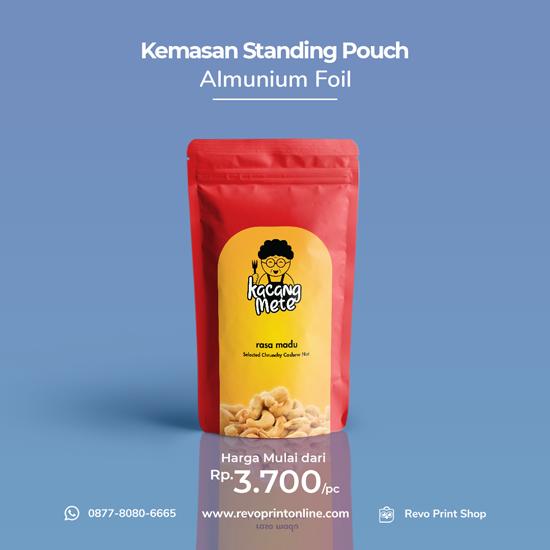 Standing Pouch Almunium Foil Satu Muka