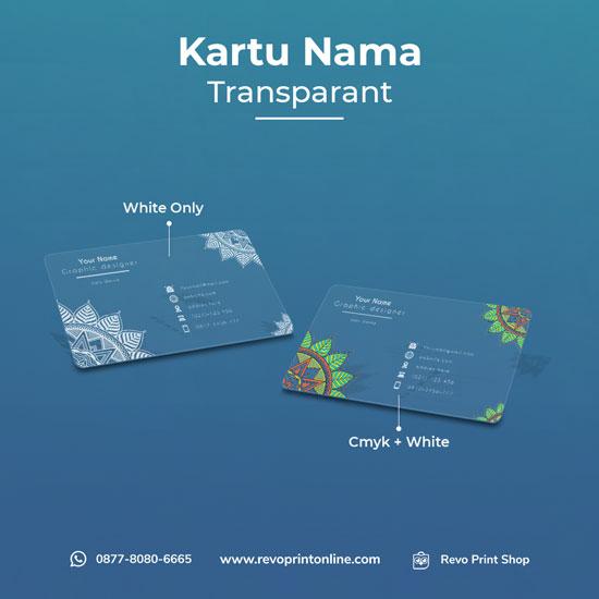 Kartu Nama Transparan