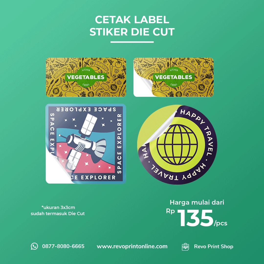 Cetak Stiker Die Cut ( vinyl )