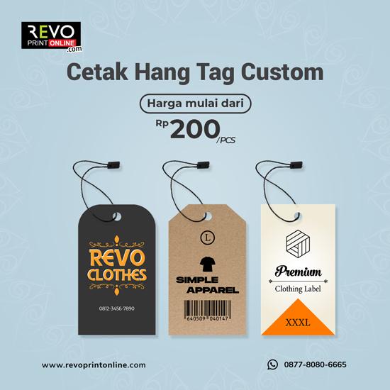 Cetak Hang Tag Custom