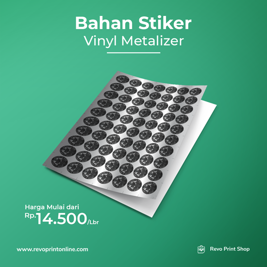 Stiker Metalize