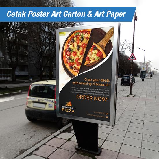 Cetak Poster Art Carton & Art Paper  A2,A1,A0